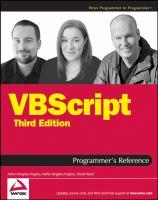 Cover image for VBScript programmer's reference