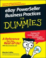 Cover image for eBay powerseller business practices for dummies