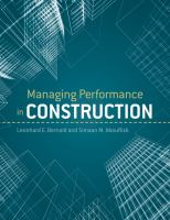 Cover image for Managing performance in construction