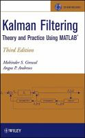 Cover image for Kalman filtering : theory and practice using MATLAB