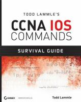 Cover image for Todd Lammles CCNA IOS commands survival guide