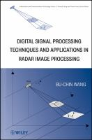 Cover image for Digital signal processing techniques and applications in radar image processing