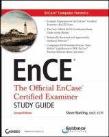 Cover image for EnCase computer forensics, includes DVD : the official EnCE : EnCase certified examiner study guide