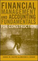 Cover image for Financial management and accounting fundamentals for construction