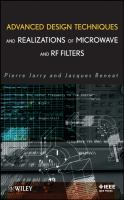 Cover image for Advanced design techniques and realizations of microwave and RF filters