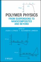 Cover image for Polymer physics : from suspensions to nanocomposites and beyond