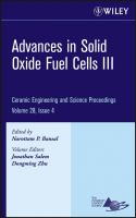 Cover image for Advances in solid oxide fuel cells III : a collection of papers presented at the 31st International Conference on Advanced Ceramics and Composites, January 21-26, 2007, Daytona Beach, Florida