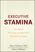 Cover image for Executive stamina : how to optimize time, energy, and productivity to achieve peak performance