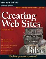Cover image for Creating web sites bible