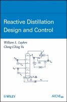 Cover image for Reactive distillation design and control