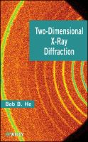 Cover image for Two-dimensional x-ray diffraction