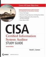 Cover image for CISA : certified information systems auditor : study guide