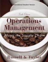 Cover image for Operations management : along the supply chain