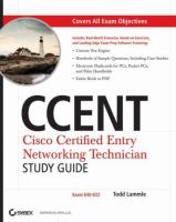 Cover image for CCENT  cisco certified entry networking technician study guide