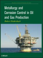 Cover image for Metallurgy and corrosion control in oil and gas production