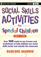 Cover image for Social skills activities for special children