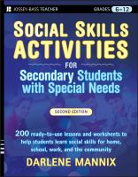 Cover image for Social skills activities for secondary students with special needs