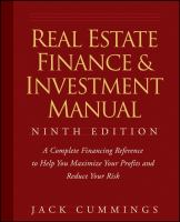 Cover image for The real estate finance and investment manual