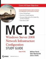 Cover image for MCTS windows server 2008 network infrastructure configuration study guide (exam 70-642)