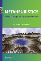 Cover image for Metaheuristics : from design to implementation