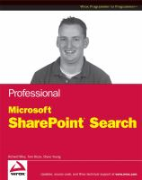 Cover image for Professional Microsoft search : sharepoint 2007 and search server 2008