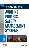 Cover image for Guidelines for auditing process safety management systems