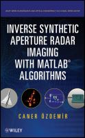 Cover image for Inverse synthetic aperture radar imaging with MATLAB algorithms