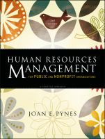 Cover image for Human resources management for public and nonprofit organizations : a strategic approach