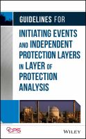 Cover image for Guidelines for initiating events and independent protection layers in layer of protection analysis