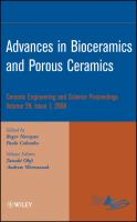 Cover image for Advances in bioceramics and porous ceramics : ceramic engineering and science proceedings volume 29, issue 7, 2008