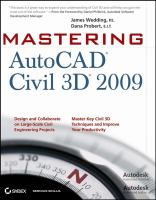 Cover image for Mastering AutoCAD Civil 3D 2009