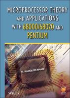 Cover image for Microprocessor theory and applications with 68000/68020 and Pentium
