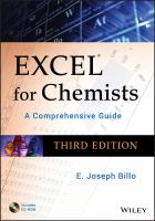 Cover image for Excel for chemists a comprehensive guide