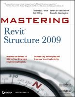 Cover image for Mastering revit structure 2009