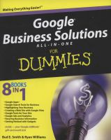 Cover image for Google business solutions all-in-one for dummies
