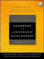 Cover image for The Center for Creative Leadership handbook of leadership development