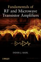 Cover image for Fundamentals of RF and microwave transistor amplifiers