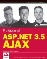 Cover image for Professional ASP.NET 3.5 AJAX