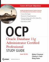Cover image for OCP Oracle Database 11g Administrator certified professional study guide (1Z0-053)