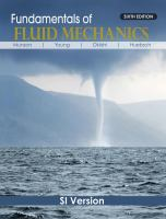 Cover image for Fundamentals of fluid mechanics