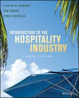 Cover image for Introduction to the Hospitality Industry.