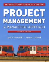 Cover image for Project management : a managerial approach