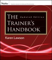 Cover image for The trainer's handbook