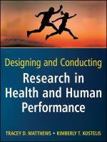Cover image for Designing and conducting research in health and human performance