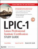 Cover image for LPIC-1 : linux professional institute certification study guide