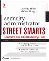 Cover image for Security administrator street smarts : a real world guide to CompTIA Security+ skills