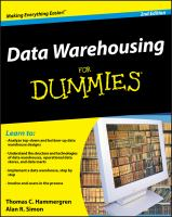 Cover image for Data warehousing for dummies