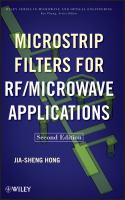 Cover image for Microstrip filters for RF/microwave applications