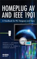 Cover image for Homeplug AV and IEEE 1901 : a handbook for PLC designers and users