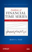 Cover image for Analysis of financial time series